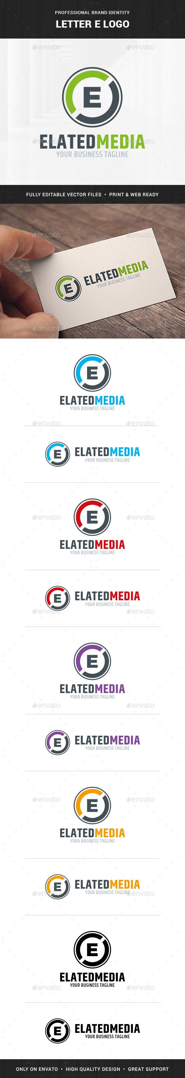 Letter E Logo Template - Letters Logo Templates