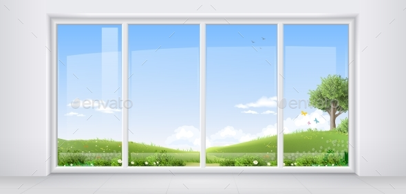 Room with Panoramic Window - Buildings Objects