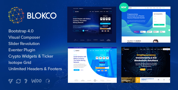 Image of Blokco - ICO, Cryptocurrency & Consulting Business WordPress Theme