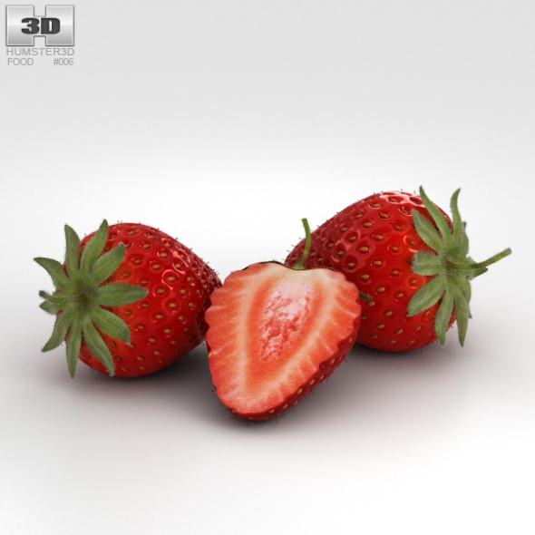 Strawberry - 3DOcean Item for Sale