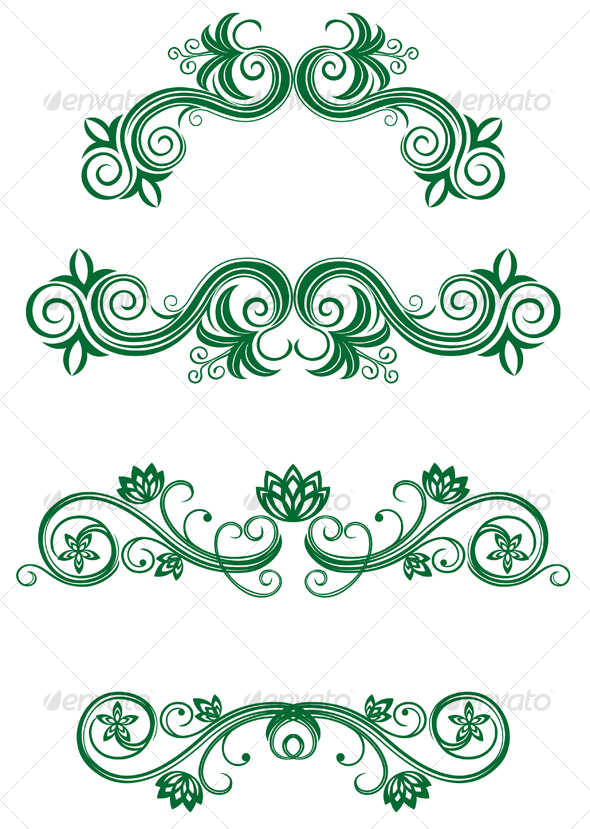 Vintage floral decorations - Decorative Vectors