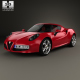 Alfa Romeo 4C with HQ interior 2014