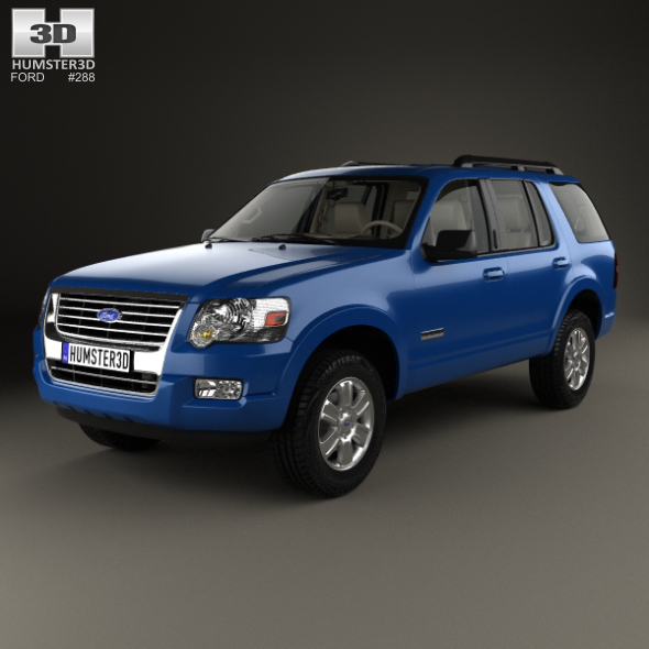 Ford Explorer with HQ interior 2006 - 3DOcean Item for Sale