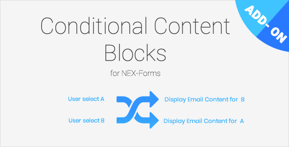 Conditional Content Blocks for NEX-Forms - CodeCanyon Item for Sale