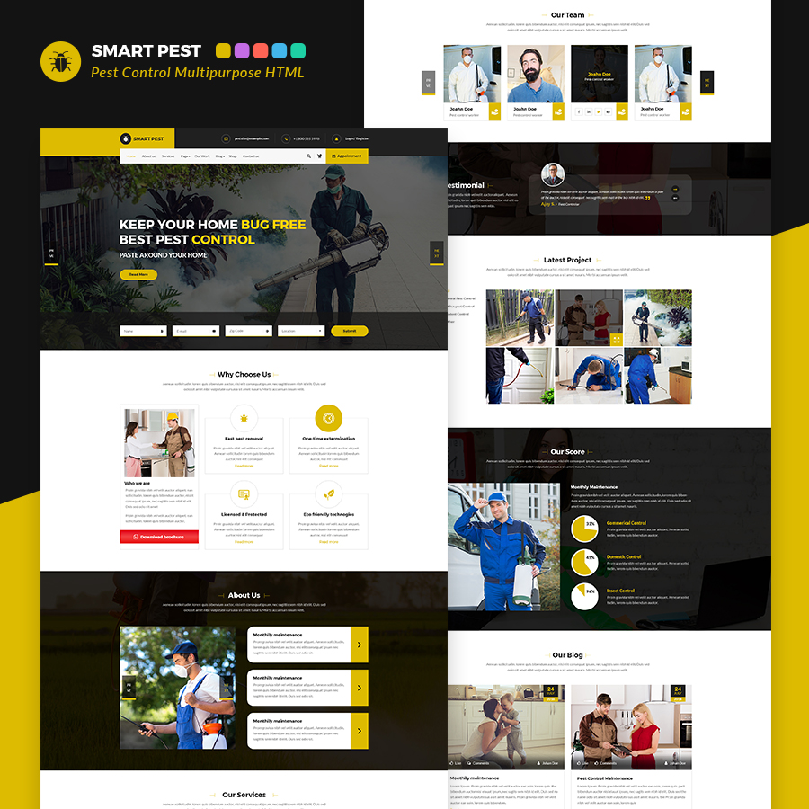 Smart Pest Control Multipurpose HTML Template - 1