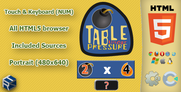Table under pressure - HTML5 Math game            Nulled
