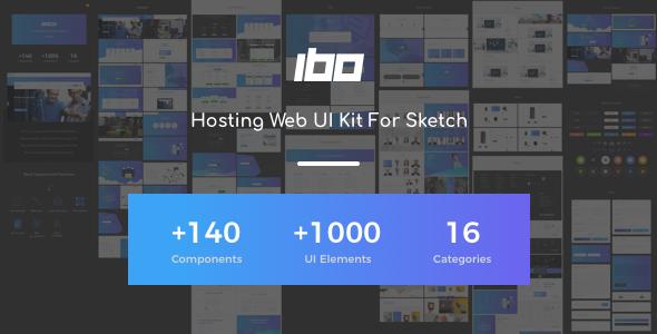 Ibo - Hosting Web UI Kit For Sketch - Sketch Templates