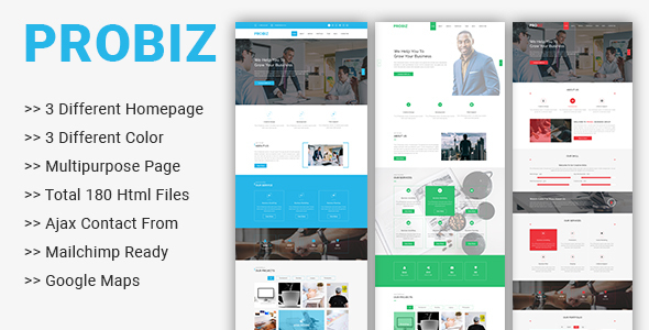 Image of Probiz - Multipurpose Business Template