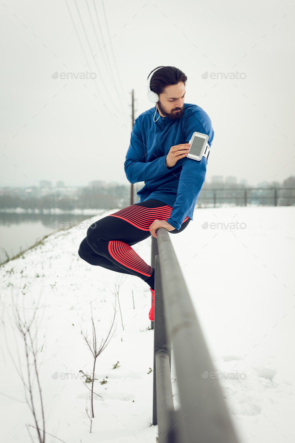 A Break After Jogging - Stock Photo - Images
