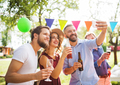 Family celebration or a garden party outside in the backyard. - PhotoDune Item for Sale