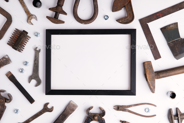 Fathers day greeting card concept. Flat lay. Copy space. - Stock Photo - Images