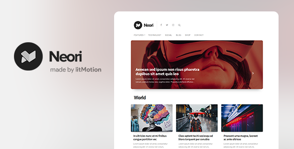 Neori - News and Magazine WordPress Theme