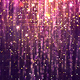Purple Gold Glossy Rain Background with Glitter Particles - VideoHive Item for Sale
