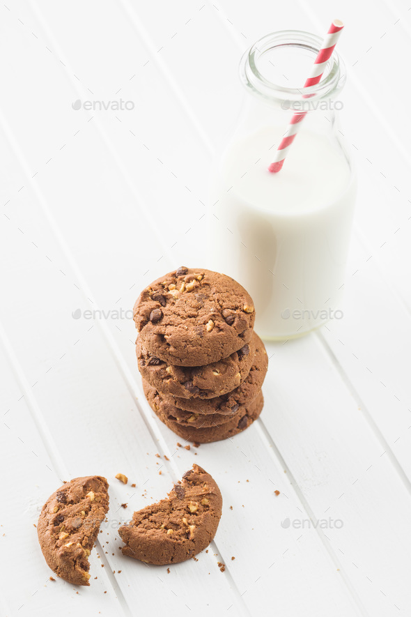 Tasty chocolate cookies. - Stock Photo - Images