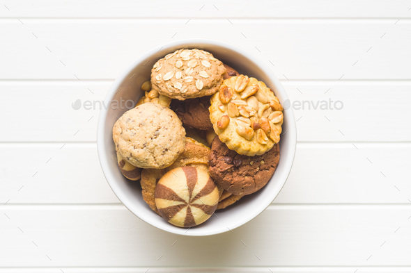 Different types of sweet cookies. - Stock Photo - Images