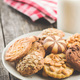 Different types of sweet cookies. - PhotoDune Item for Sale