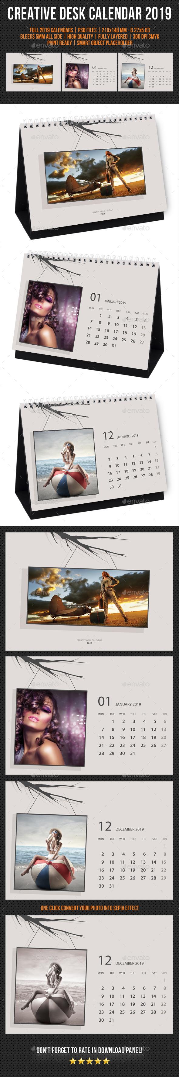 Creative Desk Calendar 2019 V26 - Calendars Stationery