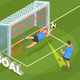 Kicking Goal Football Background