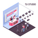 TV Studio Illustration