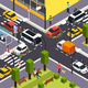 Autonomous Vehicle Isometric Background - GraphicRiver Item for Sale