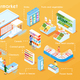 Supermarket Isometric Flowchart - GraphicRiver Item for Sale
