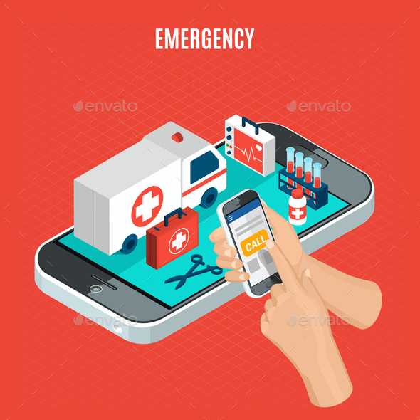 Emergency Isometric Concept - Health/Medicine Conceptual