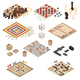 Isometric Board Games Icon Set - GraphicRiver Item for Sale