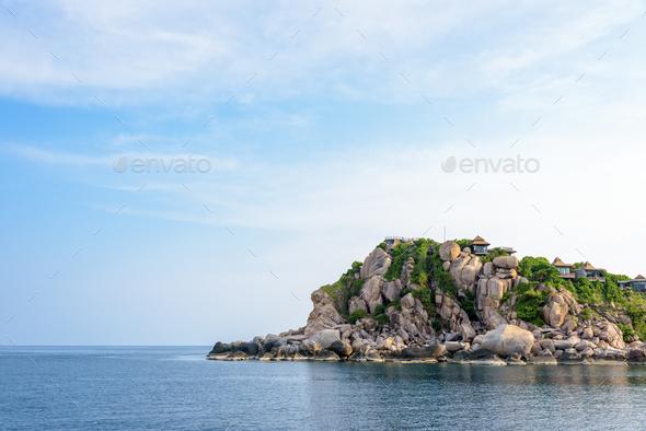 Shark Cape in Ko Tao island Thailand - Stock Photo - Images