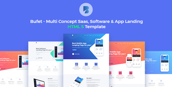 Image of Bufet - Multi-Concept App, Saas and Software Landing Page