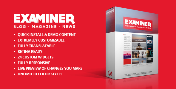 Examiner Magazine Theme - Blog / Magazine WordPress