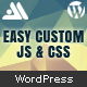Easy Custom JS and CSS - Theme Customization for WordPress - CodeCanyon Item for Sale