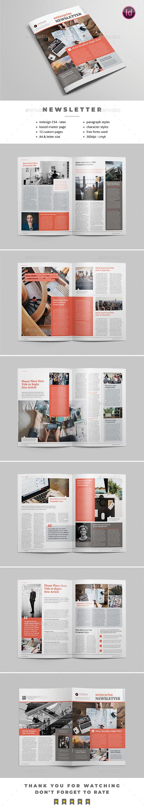 Multipurpose Newsletter v.05 - Newsletters Print Templates