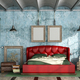 Colorful bedroom in retro style - PhotoDune Item for Sale