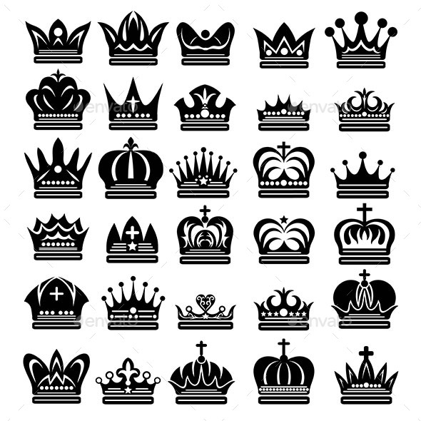 Beauty Crown Silhouettes - Man-made Objects Objects