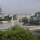 Aerial View of Notre Dame in Paris, Tournelle Bridge, Statue of St. Genevieve - VideoHive Item for Sale