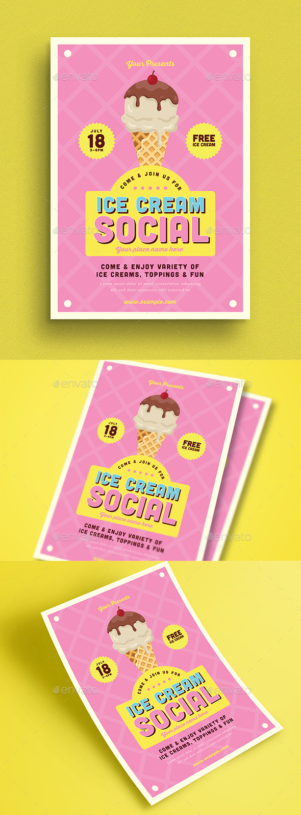 Ice Cream Social Flyer - Events Flyers