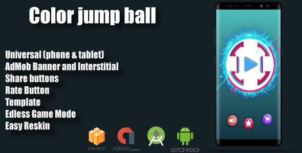 Color : Jump Ball + Admob + Multiple Characters (Android Studio + Eclipse+ Bbdoc)            Nulled