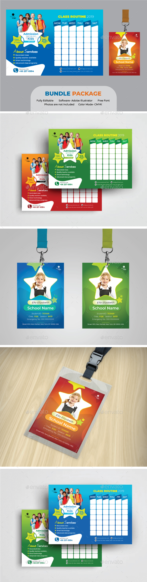 School Bundle - Stationery Print Templates