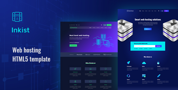 Inkist - Web Hosting HTML 5 Template - Hosting Technology