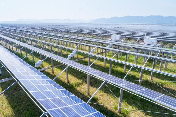 solar energy farms - Stock Photo - Images