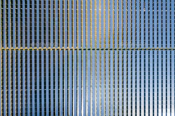 neatly arranged solar panels - Stock Photo - Images