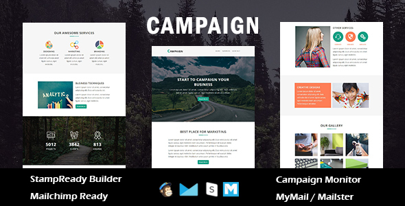 Campaign - Multipurpose Responsive Email Template with Stamp Ready Builder Access