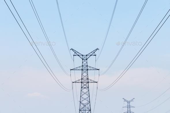 power tower closeup - Stock Photo - Images