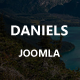 Daniels - Onepage Portfolio Joomla! Theme - ThemeForest Item for Sale