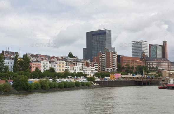 Hamburg waterfront, Germany - Stock Photo - Images