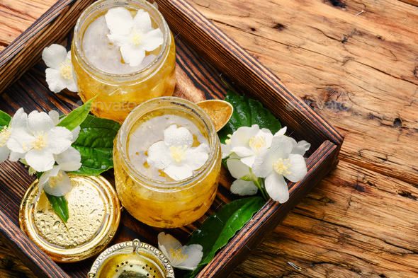 Delicious jasmine jam - Stock Photo - Images