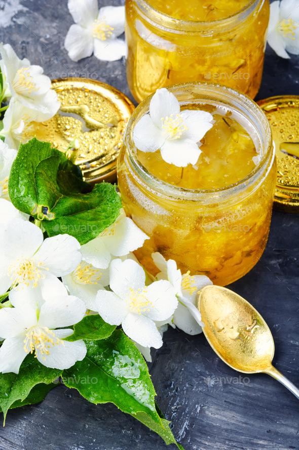 Delicious jasmine jam - Stock Photo - Images