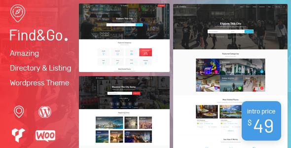 Findgo - Directory & Listing WordPress Theme - Directory & Listings Corporate