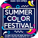 Summer Color Fest 2018 Flyer Template - GraphicRiver Item for Sale