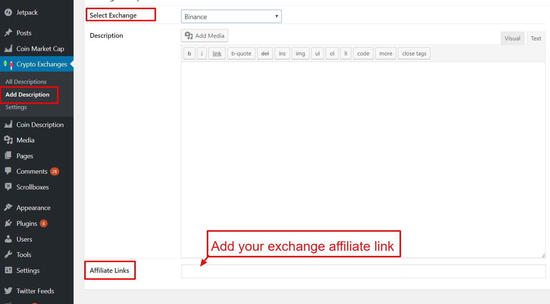 Cryptocurrency Exchanges List Pro - WordPress Plugin